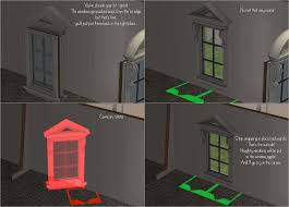 mod the sims window fixes for shrunk lots