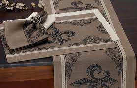 Wholesale Fleur De Lis Home Decor by Wholesale Fleur De Lis Stripe Jacquard Placemats U2013 Dii Design Imports