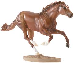 horse statues for home decor amazon com breyer traditional secretariat horse model toys u0026 games