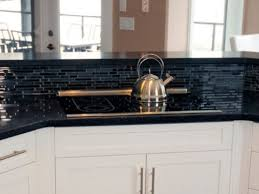 Glass Kitchen Countertops Black Countertops Kitchen Ideas My Home Design Journey