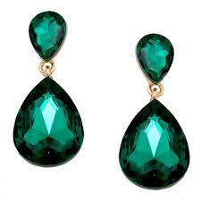 emerald earrings uk emerald green gold tone teardrop earrings