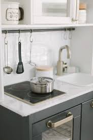 ikea navy blue kitchen cabinets ikea play kitchen diy makeover