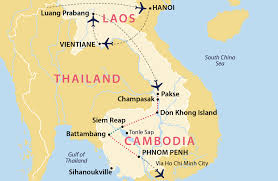 Condor Airlines Route Map by Discover Laos And Cambodia Cambodia Jules Verne