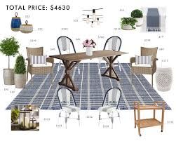 Patio Furniture On A Budget Budget Room Hamptons Outdoor Dining Room Emily Henderson