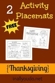 6 images free printable thanksgiving coloring placemats