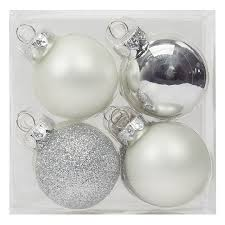 find the 12ct mini silver white ornaments by celebrate it at