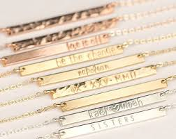 personalized name bar necklace delicate bar necklace personalized gold name bar necklace