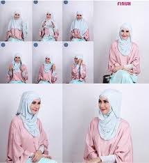 tutorial hijab paris zaskia tutorial hijab menggunakan headband hijab style 6