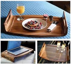 breakfast in bed tray serving trays and platters reversible