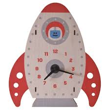 themed wall clock rocket wall clock kids wall clocks lum kid s lighting