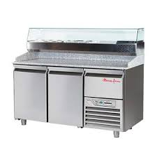 commercial pizza prep tables marri forni gpz225 refrigerated pizza prep table three section