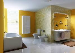 Bathroom Paint Color Schemes - twin white cone sink bathroom paint color schemes awesome blue