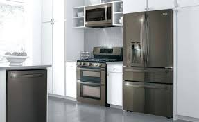 kitchen island with refrigerator kenmore elite black stainless refrigerator black stainless steel