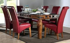 cheap red dining table and chairs red leather dining chairs download this picture here red leather