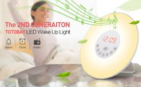 Philips Wake Up Light With Colored Sunrise Simulation Amazon Com Totobay Wake Up Light 2nd Generation Sunrise