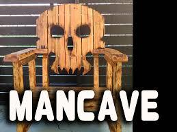 Wooden Skull Chair Skull Chair Man Cave Make Youtube