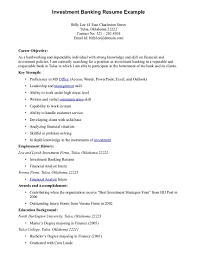 Sample Resume Job Descriptions by Related Free Resume Examples Investment Banking Resume Template