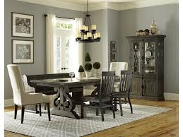 upholstered chairs dining room magnussen home bellamy magn grp d2491 tbl 4 bench dining table 2