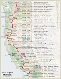 Map Oregon Coast by Pacific Crest Trail Map Hiking U0026 Camping Pinterest Pacific