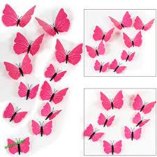 12pcs 3d pvc butterflies diy butterfly art decal home decor wall 12pcs 3d pvc butterflies diy butterfly art decal