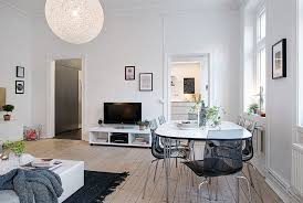 Living Room Sets For Apartments Small Apartment Dining Room Black White Striped Fabric Chairs Both