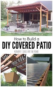 how to build a diy covered patio backyard patios and woods