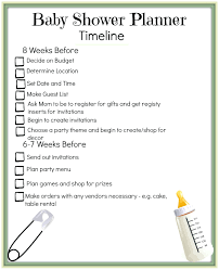 bridal shower planner template bridal shower itinerary template