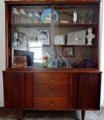 Buffet Sideboard Hutch Mid Century Modern China Cabinet Glass Hutch Bookcase Buffet