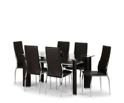 Dining Room Sets Dallas by Dallas Glass And Brown Faux Leather Dining Table And Chairs