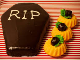 Halloween Coffin Cake by Halloween Cupcakes Electric Blue Food