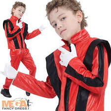Michael Jackson Halloween Costume Kids Thriller Michael Jackson Boys Halloween 80s Fancy Dress Pop
