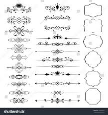 floral design elements set ornamental vintage stock vector