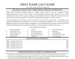 Oil Field Resume Templates Directional Drilling Resume 8225