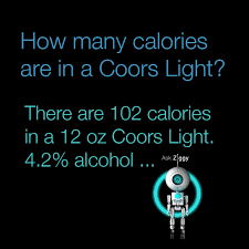 how many calories in a can of coors light how many calories are in a coors light health pinterest coors