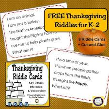 primary inspiration thanksgiving riddles freebie