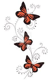 awesome colored butterflies design