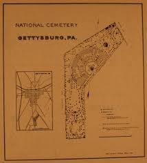 Battle Of Gettysburg Map Gettysburg National Cemetery Civil War Era National Cemeteries A