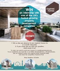 Inspired Homes Win An Internship With Iam And Inspired Homes
