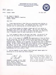 of appreciation from usaf to bill hargiss 1960