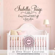 custom name wall decals inspiring nursery best good premium personalized baby name wall decals adorable interior design high quality material isabella paige every
