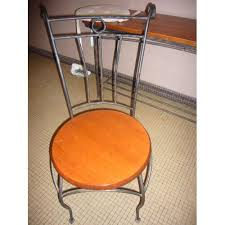 chaises fer forg chaise fer forge bois exotique galets achat et vente