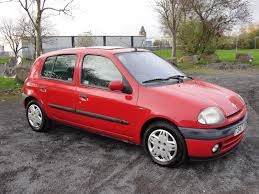 renault red renault clio automatic 83430 miles 2 keepers 2 keys sunroof red ac