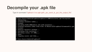 about apk basic engineering steps about apk file