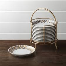 thanksgiving dessert plates crate and barrel