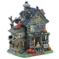 house crypt haunted monster truck lemax spooky town halloween village collection