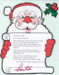 santa claus letters personalized letters from santa claus