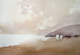 how to paint sand with watercolor painting sand on beach with