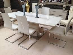 cream extending dining table living room decoration