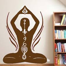 the yogi design spritiual wall sticker living room decorative art