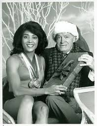 florence griffith joyner busty bob hope christmas santa claus 1988